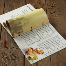 Деревянное меню на кольцах нестандарт