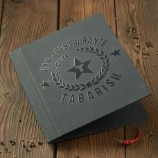 Папка меню  А4  3D лак, кашированный картон
