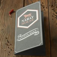 Печать меню для ресторана, бара, кафе 150x300 мм