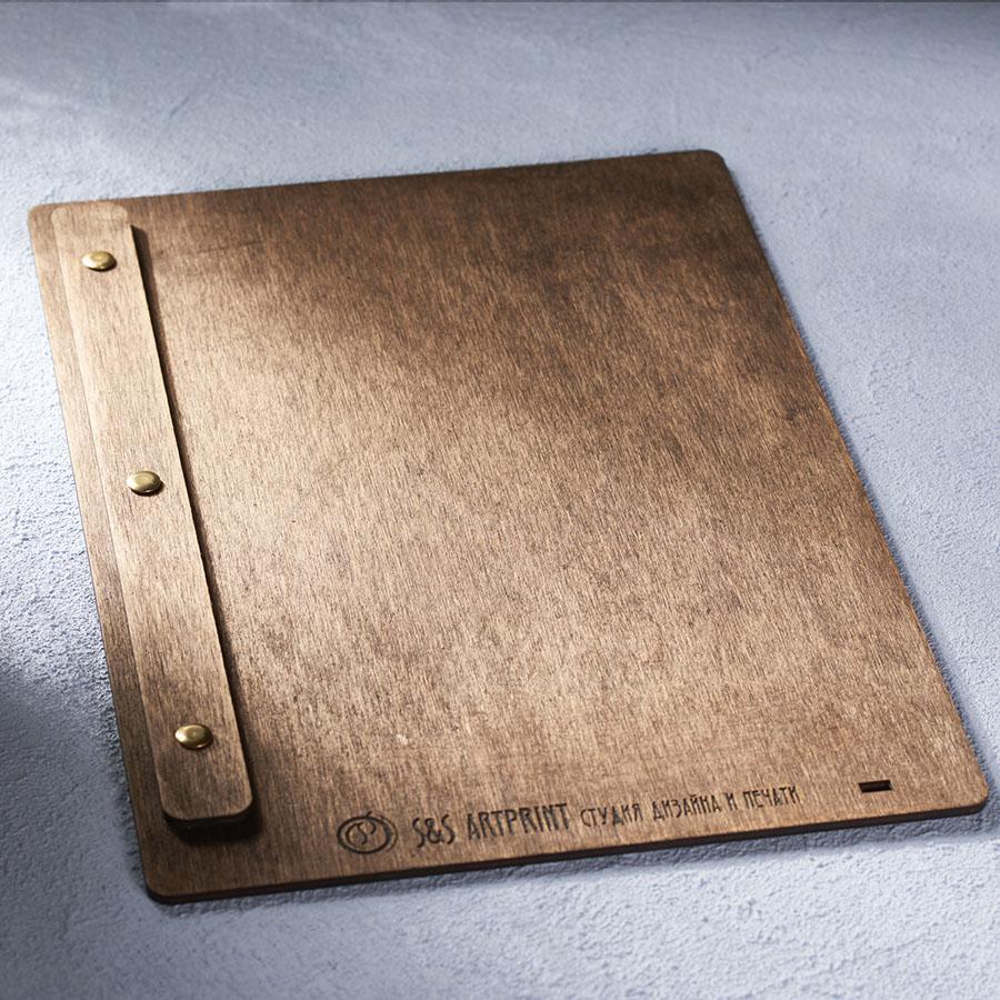 Деревянное меню планшет на болтах