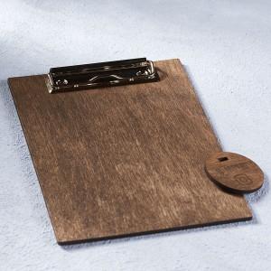 Деревянный планшет на зажиме