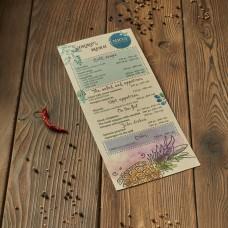 Печать меню на крафте цветное 100х210 мм от 10шт