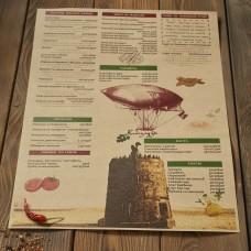 Печать меню на крафт-бумаге А2  (имитация крафта) цветное от 10шт