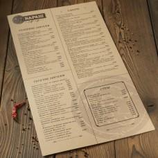 Печать меню крафт цветное А4 от 10шт