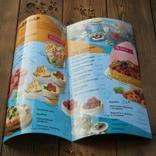 Печать меню для ресторана, бара, кафе 200x400 мм
