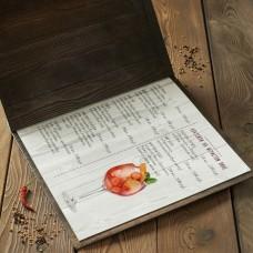 Папки меню  нестандарт от А4 кашированный картон на болтах