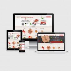 Создание. Продающий адаптивный сайт для ресторана и кафе с функционалом доставки, геолокации, оплаты - от 30000 руб.